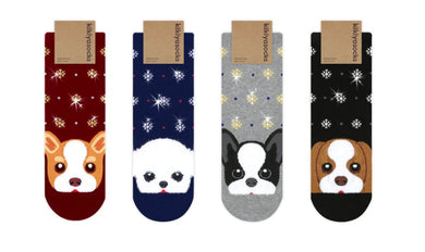 Puppy Holiday Socks