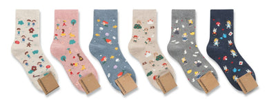 Fairy Tale Patterned Socks