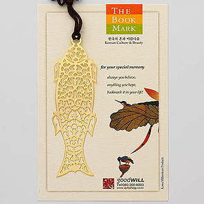 Gold-Plated Bookmark - Fish