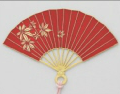 Gold-Plated Bookmark - Folding Fan (Red)