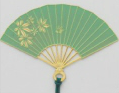 Gold-Plated Bookmark - Folding Fan (Turquoise)