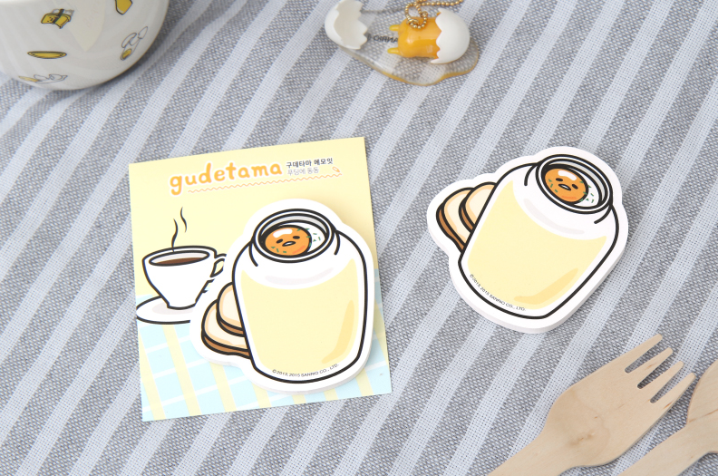 Gudetama Sticky Memo - Pudding