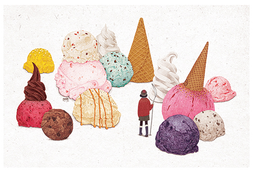 Ice Cream Grove Postcard