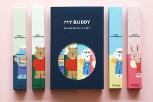 My Buddy Toothbrush 4 Piece Set