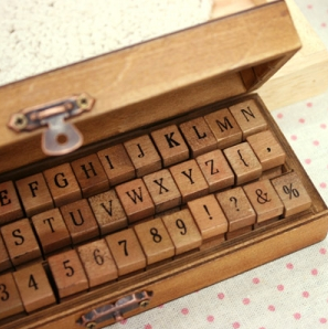 Upper Case Alphabet and Number Stamp Set