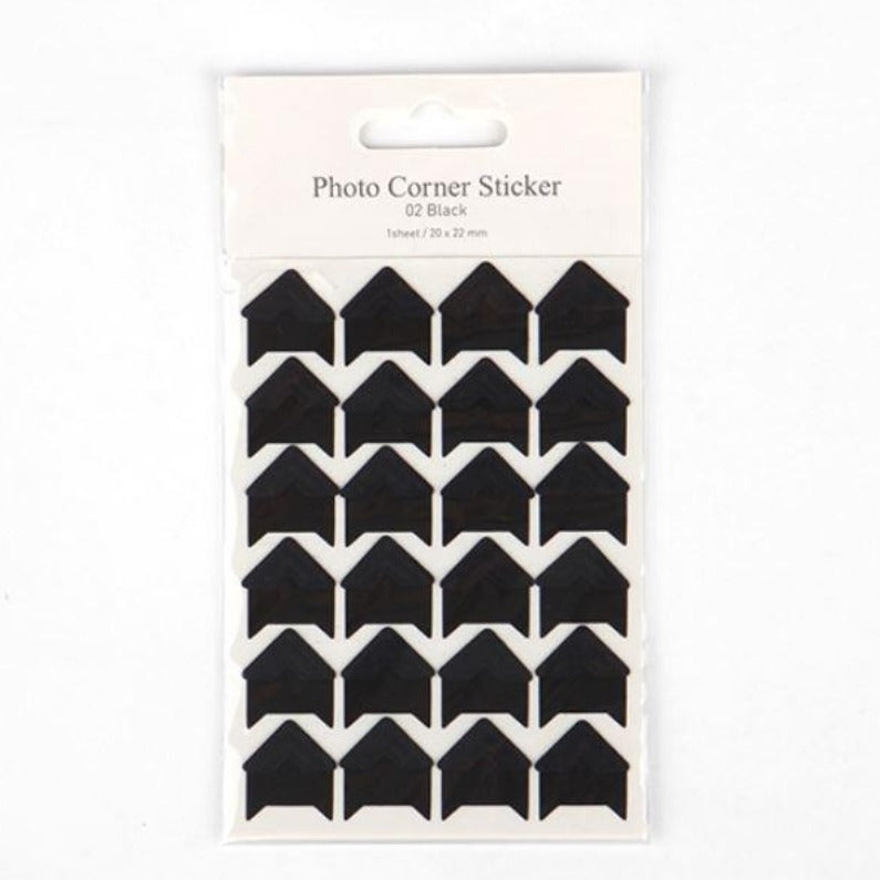 Photo Corner Sticker - Black