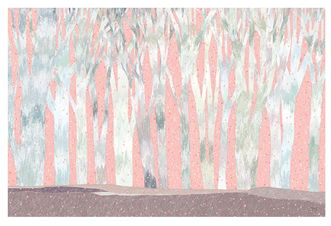 Pink Forest Postcard