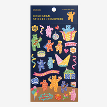 Load image into Gallery viewer, Hologram Sticker (Remover) - 02 Jelly Bear Party