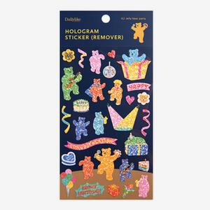 Hologram Sticker (Remover) - 02 Jelly Bear Party