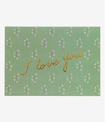 Message Card - I Love You