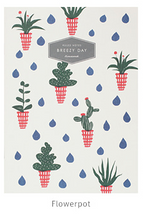 Load image into Gallery viewer, Breezy Day Notebook - Large (Flower Pot)