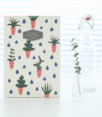 Breezy Day Notebook - Large (Flower Pot)