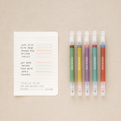 Color on Color - Twin Plus Pen Set (10 colours) ver. 2