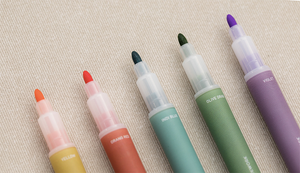 "Color on Color - Twin Plus Pen Set (10 colours) ver. 2 ""Vintage"""