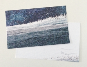 Midnight Winter Forest Postcard