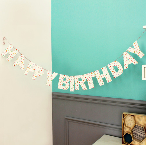 Polka Dot Happy Birthday Garland