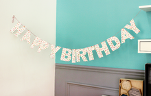 Load image into Gallery viewer, Polka Dot Happy Birthday Garland