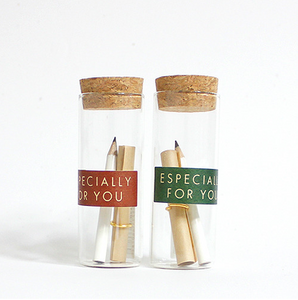 """Especially for You"" Pencil Bottle Letter"