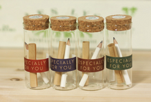 "Load image into Gallery viewer, ""Especially for You"" Pencil Bottle Letter"