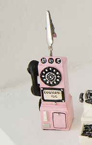 Miniature Figurine Clips - Phones and Typewriter