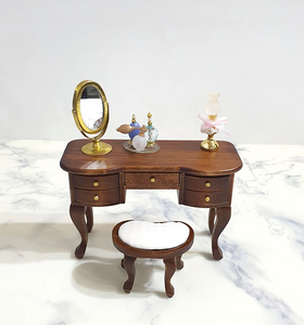Miniature Classic Wood Vanity Set
