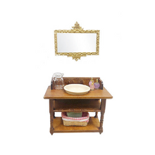Load image into Gallery viewer, Miniature Vintage Wash Basin Vanity