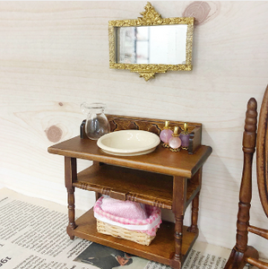 Miniature Vintage Wash Basin Vanity