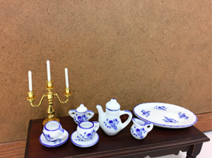 Blue and White Tea Set (10 pieces)