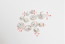 Load image into Gallery viewer, Miniature 17 Piece Ceramic Tea Set