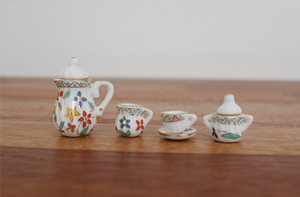 Miniature 17 Piece Ceramic Tea Set