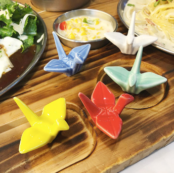 Miniature Crane Chopstick Rests