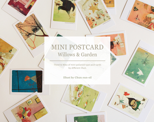 Illustrated Mini Postcard - The Wind Blowing on Willows & Secret Garden