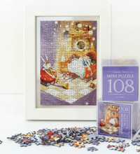 Load image into Gallery viewer, Indigo Mini Puzzle 108 Pieces - Alice in Wonderland (Purple)