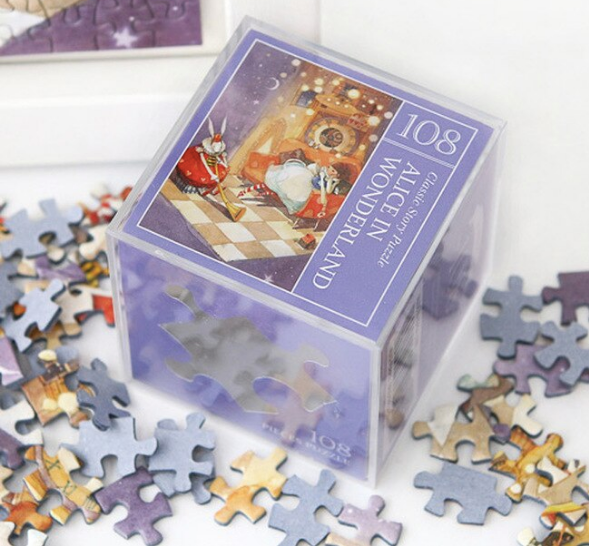 Indigo Mini Puzzle 108 Pieces - Alice in Wonderland (Purple)