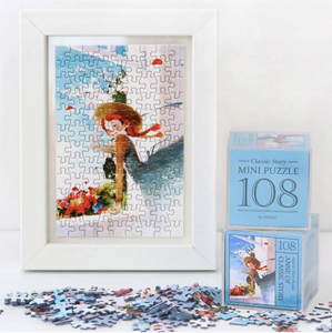 Indigo Mini Puzzle 108 Pieces - Anne of Classic Story (Blue)