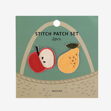 Load image into Gallery viewer, Iron-On Patch Set - Apple & Pear