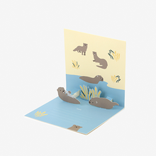 Load image into Gallery viewer, Daily Pop Up Card - 15 Otter