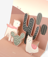 Load image into Gallery viewer, Daily Pop Up Card - 02 Alpaca
