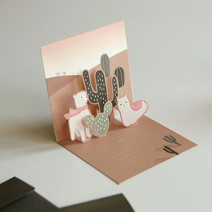 Daily Pop Up Card - 02 Alpaca