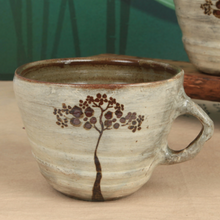 Load image into Gallery viewer, Buncheong Brown Tree Ceramic Mug
