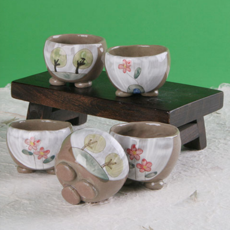 Buncheong Storybook Cup Set