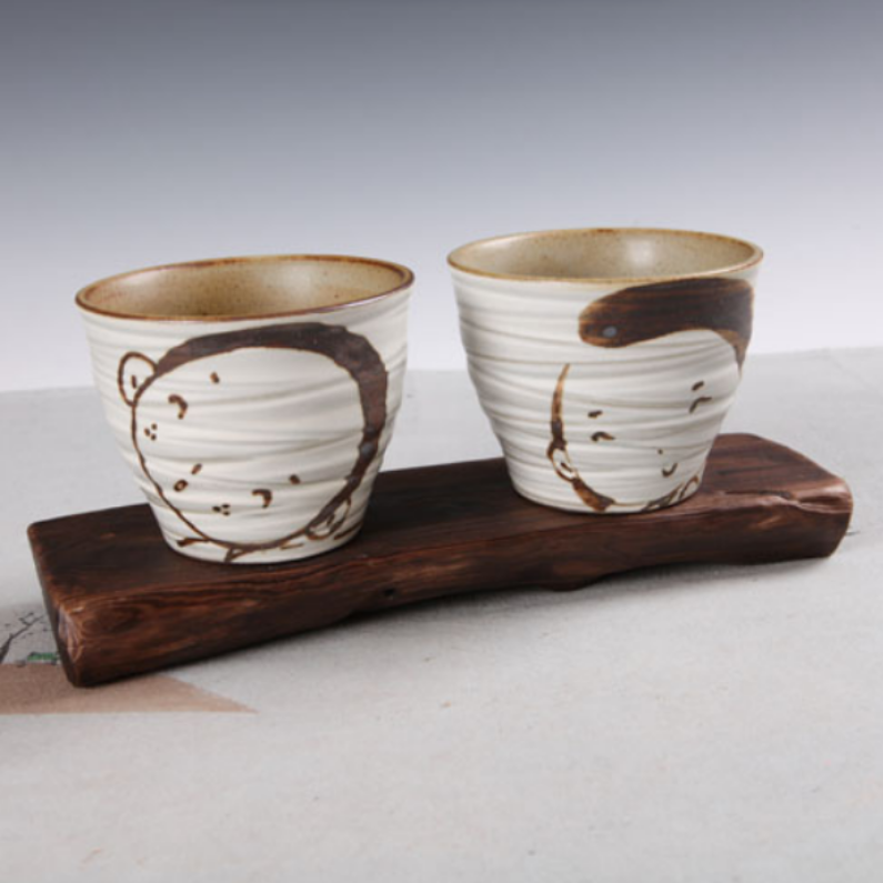 Buncheong Autumn Fairy Tale Cup Set