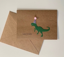 Load image into Gallery viewer, Happy Birthday T-Rex Card