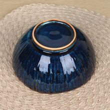 Load image into Gallery viewer, Large Deep Blue Ceramic Bowl
