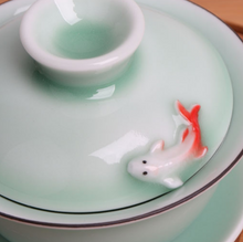 Load image into Gallery viewer, Koi Fish Tea Bowl