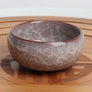 Icy Crackle Ceramic Dish