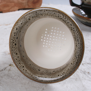 Speckled Cheonmok Tea Cup with Saucer