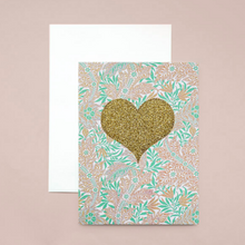 Load image into Gallery viewer, Mint Golden Heart - Card