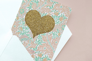 Mint Golden Heart - Card