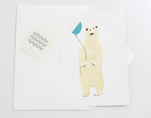 Load image into Gallery viewer, Polar Bear Balloon Card